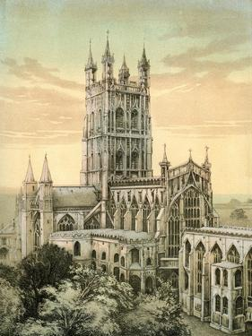 Gloucester Cathedral, Gloucestershire, C1870 by Stannard & Son