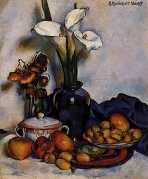 Still Life W Arum Lilies and Fruit by Stanton Macdonald-Wright