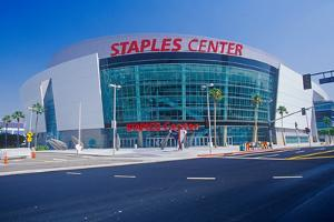 Staples Center, home to the NBA's Los Angeles Lakers, Los Angeles, California