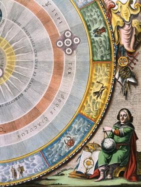 Detail of Nicolaus Copernicus from an Engraving of the Copernican System by Andreas Cellarius by Stapleton Collection