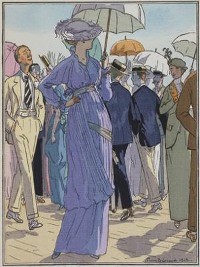 Fashion Illustration of Cheruit's Beach Dress by Pierre Brissanol by Stapleton Collection