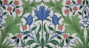 Floral Wallpaper Design with Tulips by William Morris by Stapleton Collection