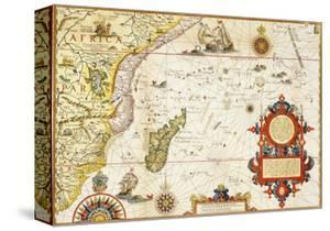 Map of Eastern Africa by Arnold Florent van Langren after Jan Huygen van Linschoten by Stapleton Collection