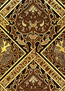 Mosaic Print Ecclesiastical Wallpaper Design by Augustus Welby Pugin by Stapleton Collection