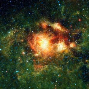 Star-birth Region, Space Telescope Image