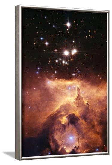 Star Cluster Pismis 24 Above NGC 6357-J. Maiz-Framed Photographic Print