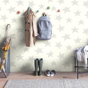Star- Grey Peel & Stick Wallpaper