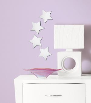 Star Peel & Stick Mirror (Small - 4 pieces)