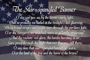 Star-spangled Banner Lyrics Poster