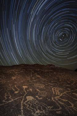 Star Trails at an Ancient Petroglyph Site Near Bishop, California