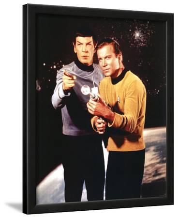Star Trek Spock and Captain Kirk TV Poster Print