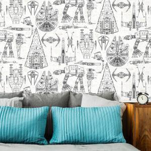 Star Wars Blueprint Peel and Stick Wallpaper
