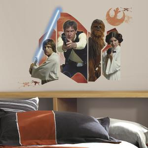 Star Wars Classic Burst Peel & Stick Giant Wall Decal