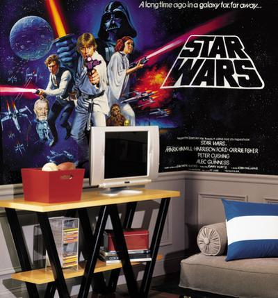 Star Wars Classic Chair Rail Prepasted Mural