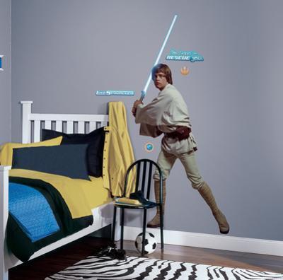 Star Wars Classic Luke Peel & Stick Giant Wall Decal