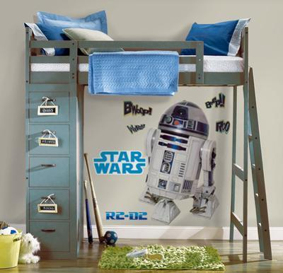 Star Wars Classic R2D2 Peel & Stick Giant Wall Decal