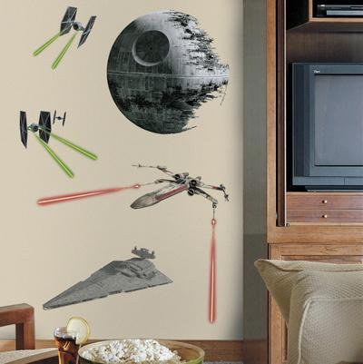 Star Wars Classic Ships Peel U0026 Stick Giant Wall Decals