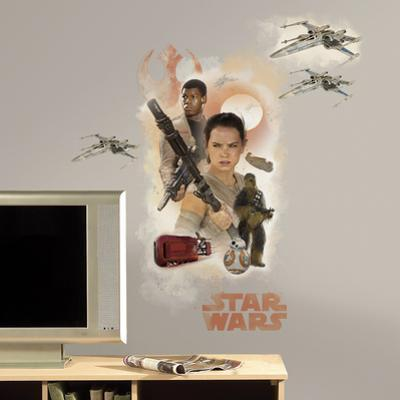 Star Wars: Ep VII Hero Burst Peel & Stick Giant Wall Decal