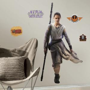 Star Wars: Ep VII Rey Peel & Stick Giant Wall Decal
