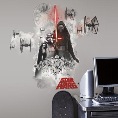 Star Wars: Ep VII Villians Burst Peel & Stick Giant Wall Decal