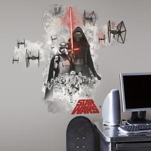 Star Wars: Ep VII Villians Burst Peel & Stick Giant Wall Decal