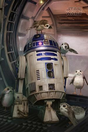 Star Wars- Episode 8- The Last Jedi- R2-D2 & Porgs