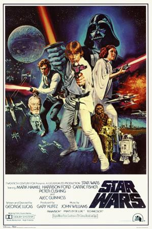 Star Wars - Episode IV New Hope - Classic Movie Poster