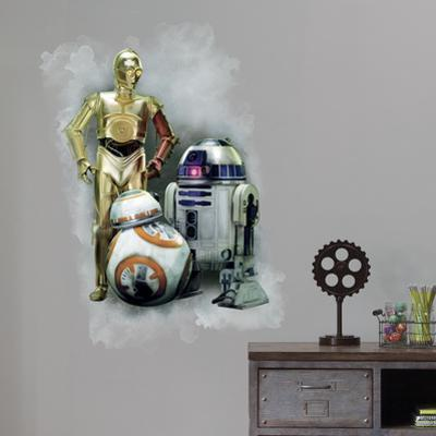 Star Wars: Episode VII - R2D2, C3PO, BB-8 Giant Wall Graphic