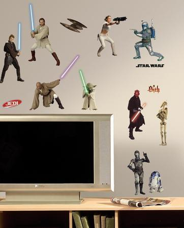 Star Wars Episodes 1 3 Peel U0026 Stick Wall Decals