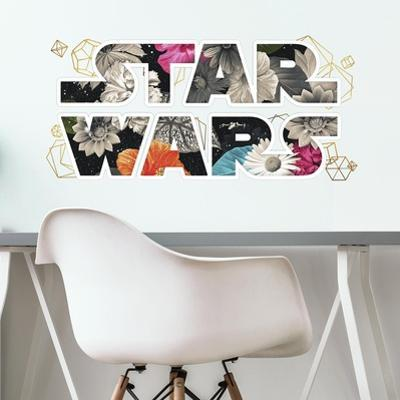 Star Wars Floral Logo Peel and Stick Wall Decals with Foil