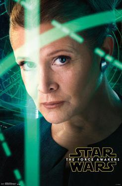 Star Wars Force Awakens- Leia Portrait