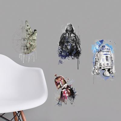 Star Wars Iconic Watercolor Peel and Stick Wall Decals