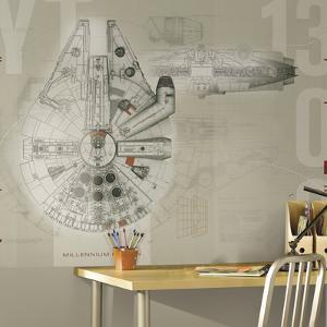 Star Wars Millennium Falcon Prepasted Mural