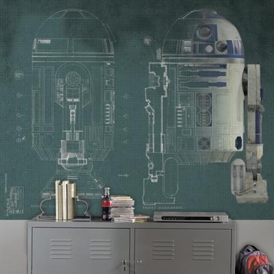 Star Wars R2-D2 Prepasted Mural