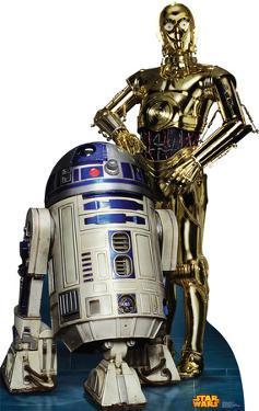 Star Wars - R2D2 & C3PO Lifesize Cardboard Cutout