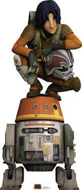 Star Wars Rebels - Ezra and Chopper Lifesize Cardboard Cutout