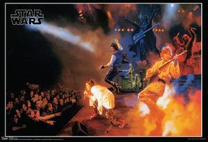 Star Wars Rocks Concert Music Poster