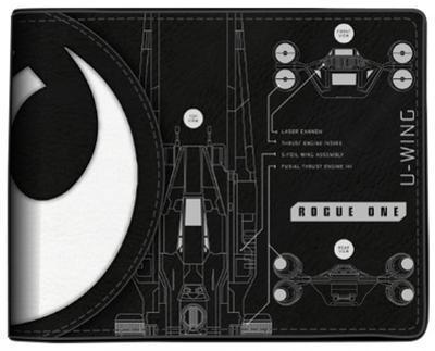 Star Wars Rogue One - Death Star/U-Wing Split Logo Bi-Fold Wallet