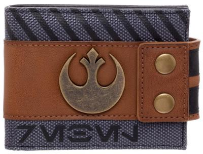 Star Wars Rogue One - Rebel Snap Bi-Fold Wallet with Metal Logo Badge