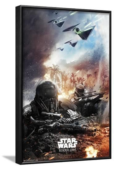 Star Wars: Rogue One - Trench--Framed Poster