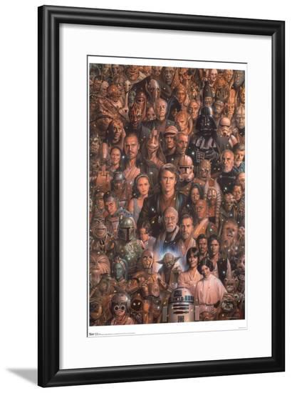 Star Wars: Saga - Character Collage--Framed Poster