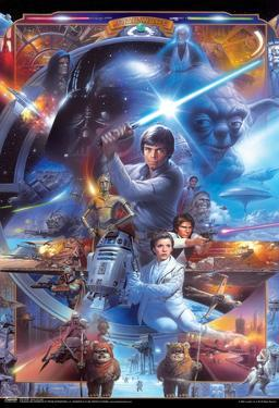 Star Wars Saga Collage Movie Poster