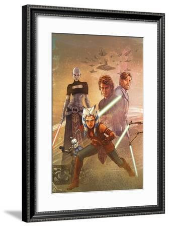 Star Wars: The Clone Wars - Celebration Mural--Framed Poster