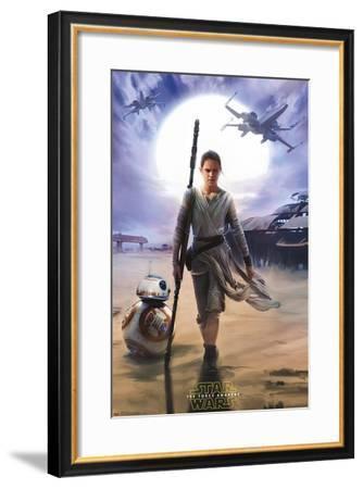 Star Wars: The Force Awakens - Rey--Framed Poster