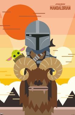 Star Wars: The Mandalorian - Geo Pop Sunset