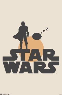 Star Wars: The Mandalorian - Mando and Sleeping The Child Illustration