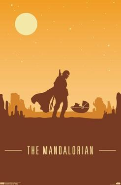 Star Wars: The Mandalorian - Mando and The Child At Dusk