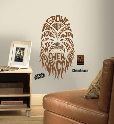 Star Wars - Typographic Chewbacca Peel and Stick Giant Wall Decal