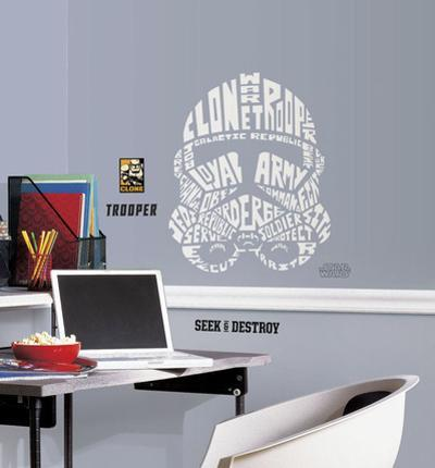 Star Wars - Typographic Clone Trooper Peel and Stick Giant Wall Decal