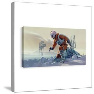 Star Wars X Wing Crash Site Printed Canvas